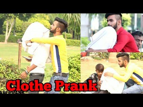 Invisible Man Throwing Clothes Prank SANSKARI PRANK