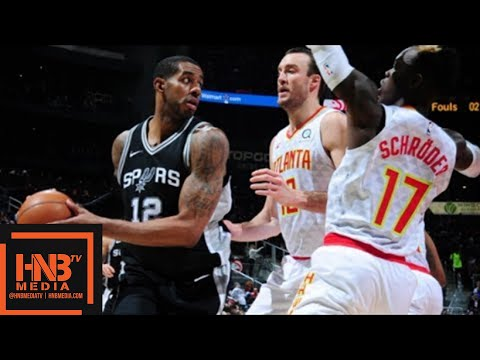 Xxx Mp4 San Antonio Spurs Vs Atlanta Hawks Full Game Highlights Jan 15 2017 18 NBA Season 3gp Sex