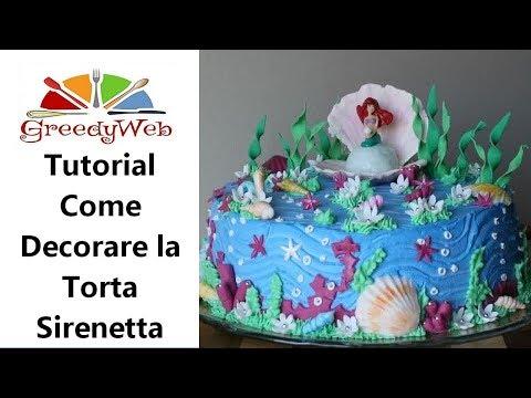 Tutorial per decorare la torta Sirenetta di Greedy Mermaid Cake sugar paste