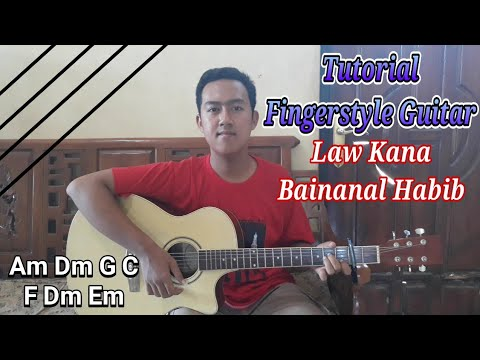 Tutorial Fingerstyle Gitar Lagu Law Kana Bainanal Habib