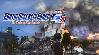 Earth Defense Force 4.1 Blowing Up Buildings! (Live Commentary)