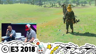 Playing Breath of the Wild Blind-Folded | The Try-Force LIVE at E3 2018