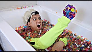 I Set Myself in Orbeez for 24 Hours & It was a HUGE Mistake... (I Got Stuck)