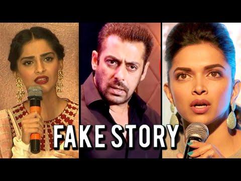 5 FAKE NEWS That SHOCKED Bollywood Stars   Salman, Sonam, Deepika, Arjun