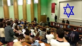 Brave French Students Stand Up to Israeli Ambassador!   Free Palestine