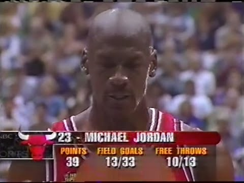 Michael Jordan s last 12 minutes with the Bulls with TV ads