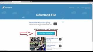 طريقة التحميل من clicknupload