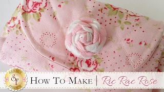 How to Make a Ric Rac Rose | a Shabby Fabrics Craft Sewing Tutorial