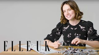 Daisy Ridley Builds A Millennium Falcon (While Answering Our Questions)
