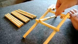 Assembly of the da Vinci bridge puzzle
