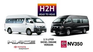 Head2Head #24 Toyota HIACE vs Nissan NV 350 (Diesel 2.5 Liter version)