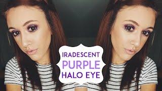 IRADESCENT PURPLE HALO EYE | _MakeupByJamie