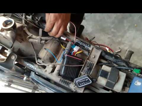 How to install anti theft alarm for All Bikes -remote start installation
