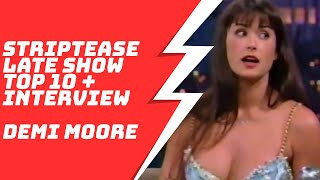 Demi Moore Top 10 Striptease and Interview on Late Show with David Letterman