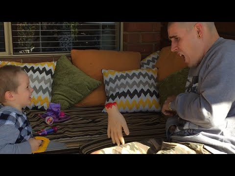 Dad Pranks Son With Fake Hand