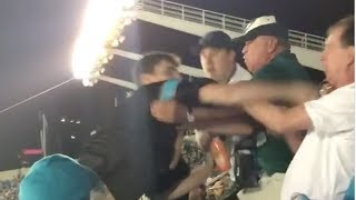 Panthers Fan SUCKER PUNCHES Elderly Man During Thursday Night Football