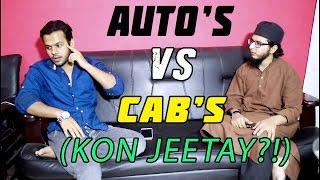 Autos Vs Cabs (KON JEETAY?!) Hyderabadi Comedy!!