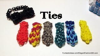 Rainbow Loom Tie charms - How to- Father's Day Gift Ideas Series