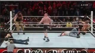 Wwe Raw  Brock Lesnar Return on Royal Rumble 2016 vs the wyatt family Full HD
