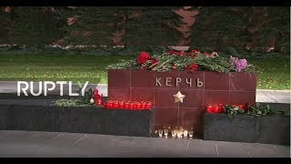 Live: Muscovites lay flowers in memory of Kerch college attack victims