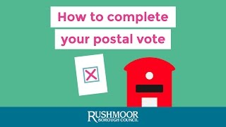How to complete your postal vote