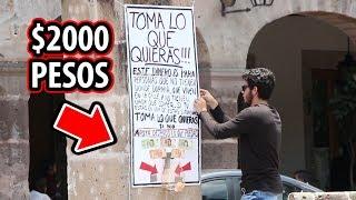 PUSE $2000 EN LA CALLE Y PASA ESTO