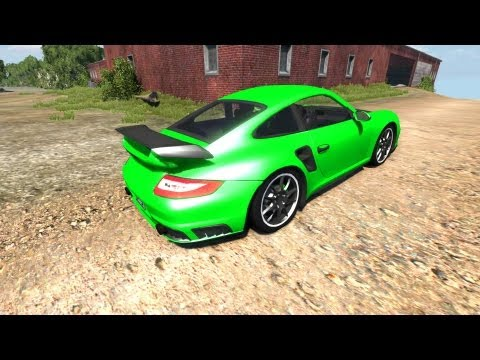 BeamNG Drive Alpha Porsche 911 GT2 v4.1 Crash Testing 29 HD