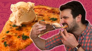 Friends Try Pizza-Flavored Ice Cream (On Top Of Pizza)