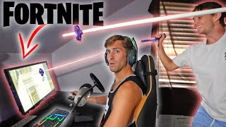 Destroyed brothers computer prank (while streaming Fortnite)