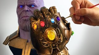3D Printed Infinity Gauntlet - Thanos Sculpture Timelapse Part 2