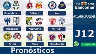 Pronósticos Jornada 12 Clausura 2018 LigaMx  ⚽️