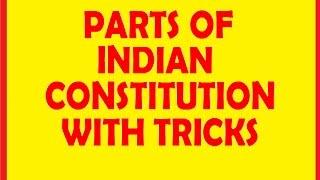 PARTS OF INDIAN CONSTITUTION @ MAHALAKSHMI ACADEMY