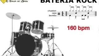 Bateria rock 160 bpm