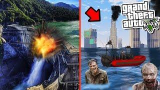 GTA 5 ZOMBIE MOD: BLOWING UP THE DAM TSUNAMI SURVIVAL (GTA 5 Mods)