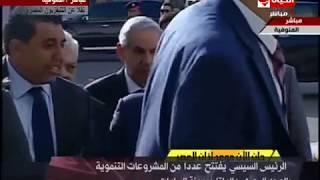 الرئيس السيسي يتفقد خط الإنتاج بمصنع بشاي للحديد والصلب - تغطية خاصة