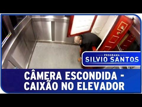 Programa Silvio Santos Câmera Escondida Caixão no Elevador