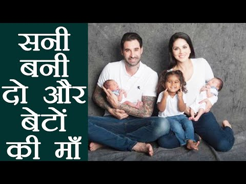 Sunny Leone becomes mother of TWIN BOYS; Asher & Noah Singh Weber | FIlmiBeat