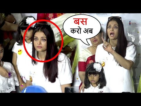 Aishwarya Rai CRIES & Lashes Out As Paparazzi Harass Daughter Aradhya Bachchan Full Video