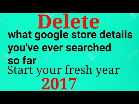 How to delete  all google search till date.