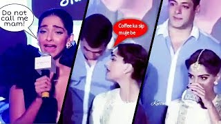 Sonam kapoor said dont call me mam and one cup of coffee with salman khan