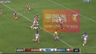 NRL : Anthony Milford RUNS CIRCLES around knights to score great try