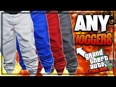 GTA 5 Online - HOW TO OBTAIN ANY COLORED JOGGERS! - Patch 1.41 (GREY, WHITE, RED, BLUE,BLACK,BEIGE)