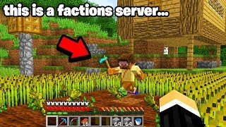 I found a FARM HOUSE with PLAYERS ONLINE.. on a Minecraft faction server (LOL)