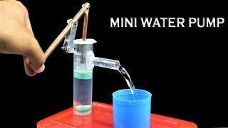 How To Make Mini hand Water Pump At Home || Hand Water Pump || DIY Ideas || Ideas Factory