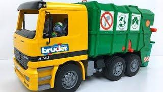 JUGUETE CAMION DE BASURA PARA NINOS - TOY TRASH TRUCK FOR CHILDREN BRUDER GARBAGE TRUCK