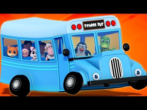 Blue Wheels On The Bus | Nursery Rhymes | Baby Songs | Children Rhyme By Junior Squad