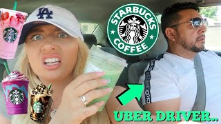 I let my Uber driver control my starbucks order for a week!!