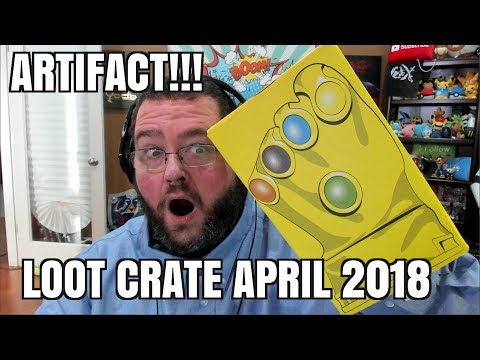 ARTIFACTS INFINITY GAUNTLET LOOT CRATE UNBOXING APRIL 2018