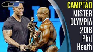 ► Phil Heath CAMPEÃO Mister Olympia 2016 [Dia 2] Posing Down e Entrega do Sandow Por The Rock
