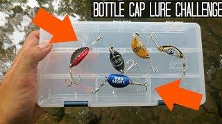 BOTTLE CAP LURE FISHING CHALLENGE! Does it catch fish?